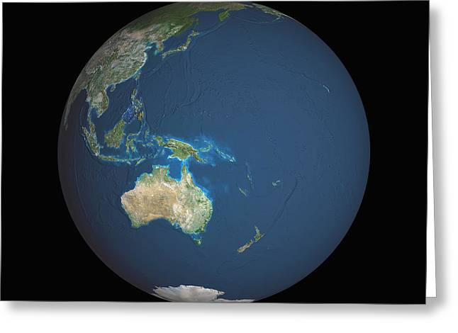 Australia - Australasia Greeting Cards - Earth Greeting Card by Planetobserver