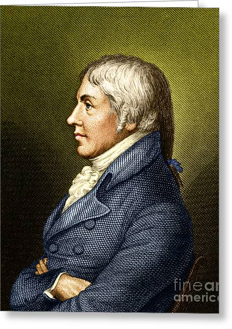 Immunology Greeting Cards - Edward Jenner, English Microbiologist Greeting Card by Science Source