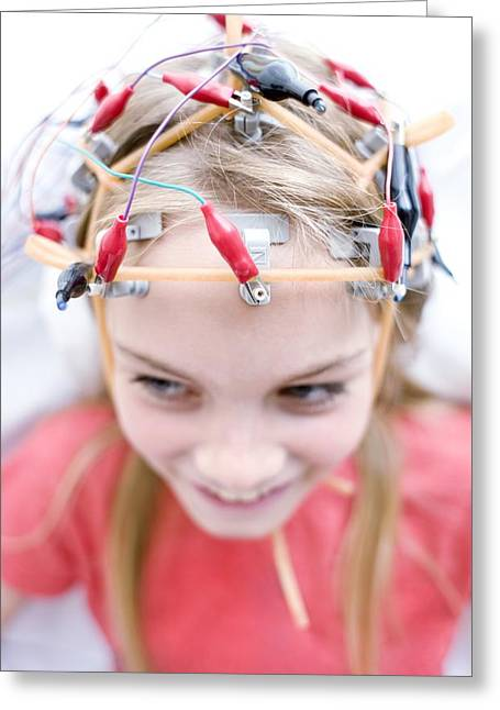 Eeg Greeting Cards - Electroencephalography Greeting Card by