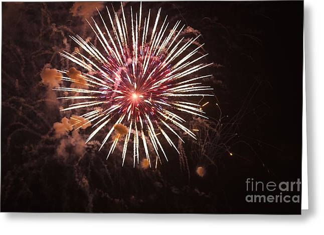 Fireworks Greeting Card by Juan  Silva