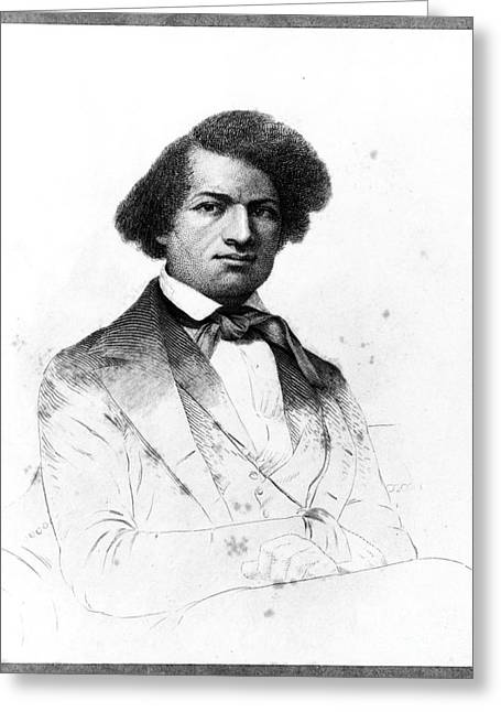 Frederick Douglass Greeting Cards - Frederick Douglass, African-american Greeting Card by Photo Researchers