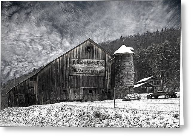 Tin Roof Greeting Cards - Frozen In Time  Greeting Card by John Stephens
