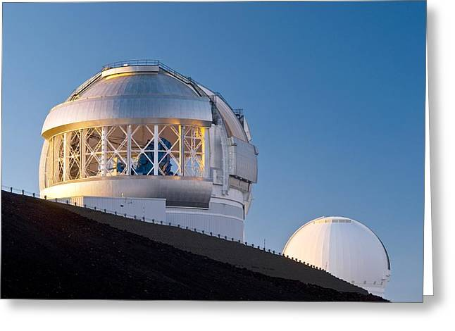Us Open Photographs Greeting Cards - Gemini North Telescope, Hawaii Greeting Card by David Nunuk