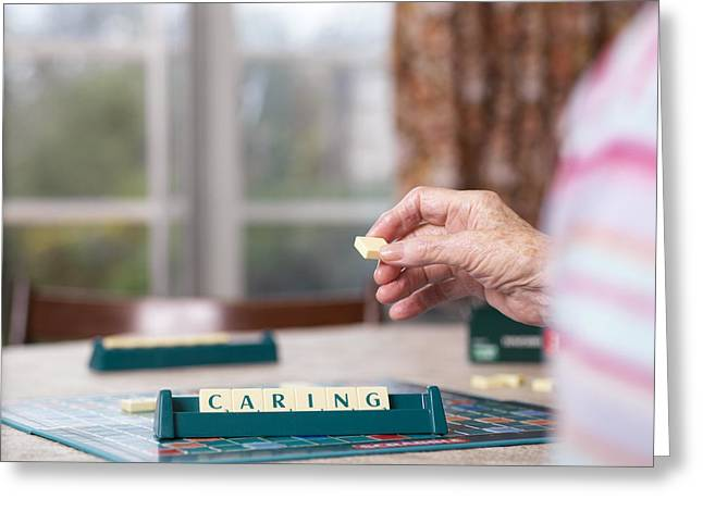 Elderly Hands Greeting Cards - Geriatric Care Greeting Card by Tek Image