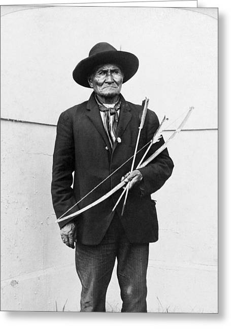 Louisiana Purchase Greeting Cards - Geronimo (1829-1909) Greeting Card by Granger