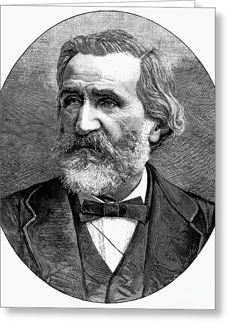 Bowtie Greeting Cards - Giuseppe Verdi (1813-1901) Greeting Card by Granger
