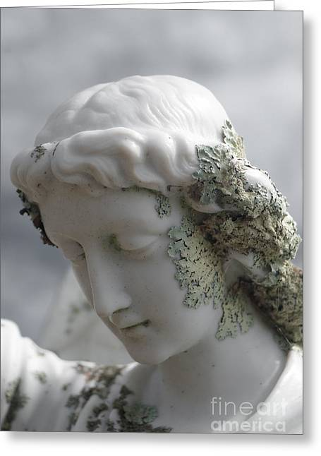 Sorrow Sculptures Greeting Cards - Grieving Angel Greeting Card by Yurix Sardinelly