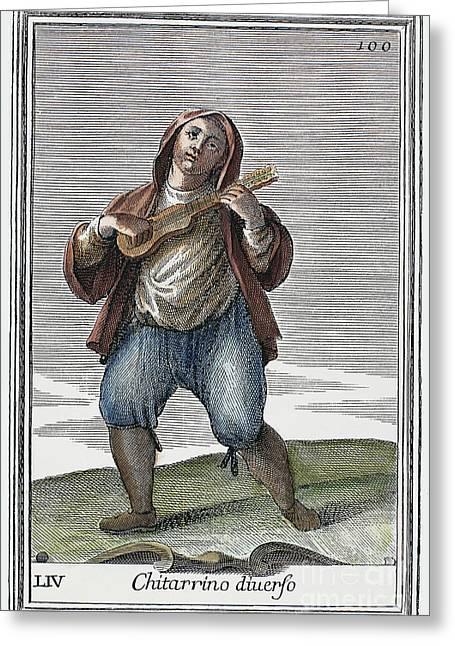 Pantaloons Greeting Cards - Guitar, 1723 Greeting Card by Granger