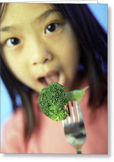 Broccoli Greeting Cards - Healthy Eating Greeting Card by Ian Boddy