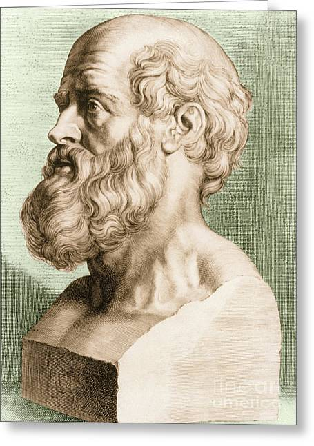 Hippocrates Greeting Cards - Hippocrates, Greek Physician Greeting Card by Science Source