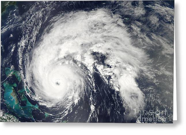 Natural Disaster Greeting Cards - Hurricane Earl Greeting Card by Stocktrek Images