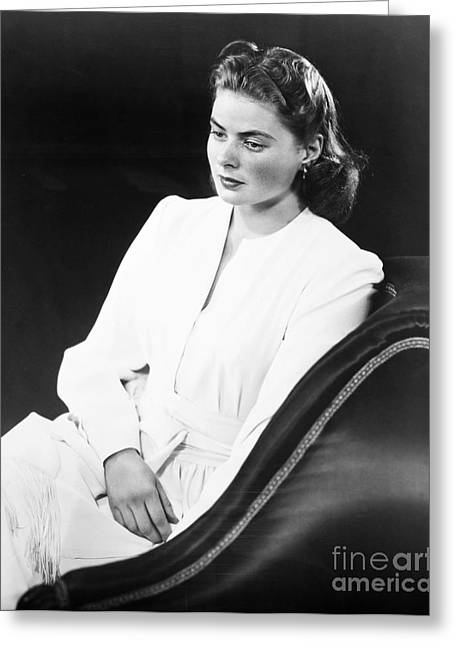 1946 Movies Greeting Cards - Ingrid Bergman (1915-1982) Greeting Card by Granger