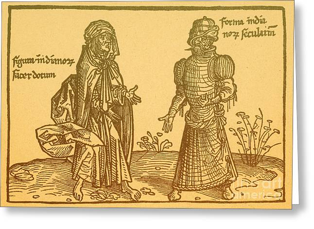 Outfit Greeting Cards - Itinerary To The Holy Land, 1486 Greeting Card by Photo Researchers