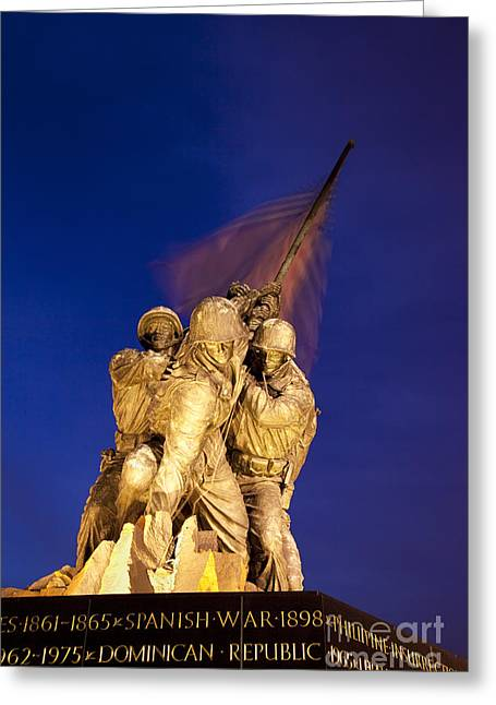 Bravery Greeting Cards - Iwo Jima Memorial Greeting Card by Brian Jannsen