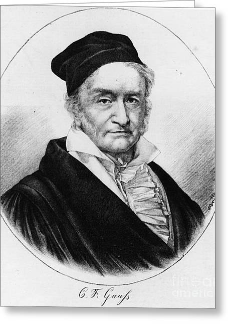 Recently Sold -  - 18th Century Greeting Cards - Johann Carl Friedrich Gauss, German Greeting Card by Science Source