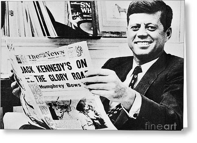 1960 Greeting Cards - John F. Kennedy (1917-1963) Greeting Card by Granger