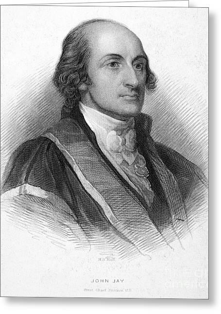 Statesman Greeting Cards - John Jay (1745-1829) Greeting Card by Granger