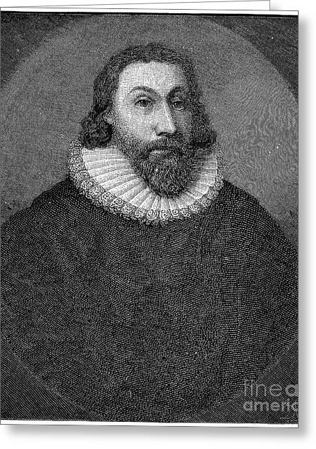 Massachusetts Bay Colony Greeting Cards - John Winthrop (1588-1649) Greeting Card by Granger