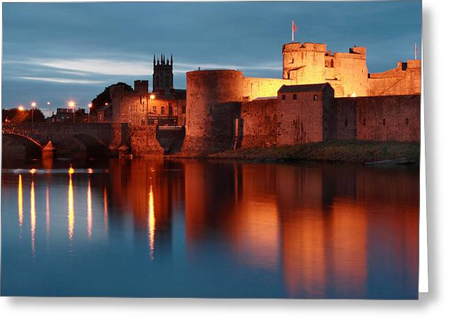Limerick Greeting Cards - King Johns Castle Limerick Ireland Greeting Card by Pierre Leclerc Photography