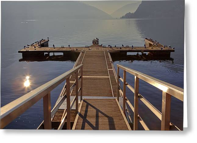 Lago di Lugano Greeting Card by Joana Kruse