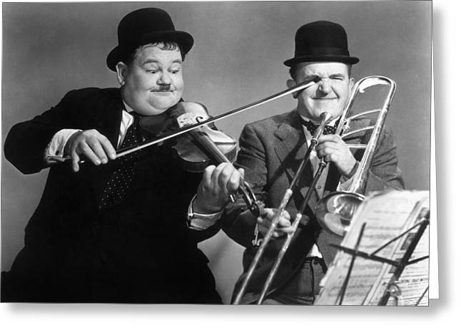 20th Greeting Cards - Laurel And Hardy Greeting Card by Granger