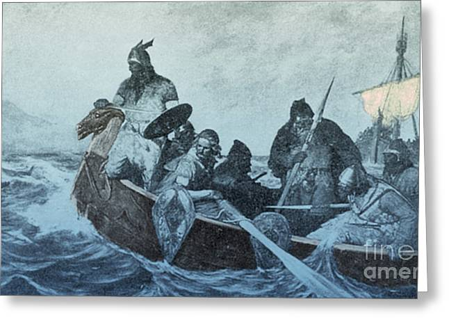 The North Greeting Cards - Leif Ericson, Norse Explorer Greeting Card by Photo Researchers
