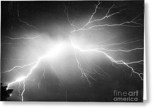 Conditions Greeting Cards - Lightning Greeting Card by Science Source