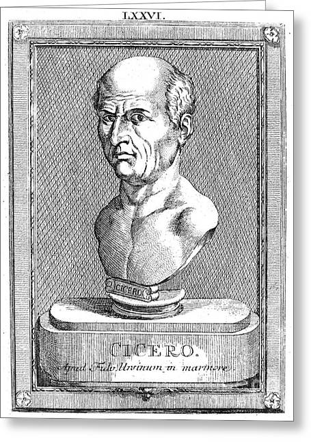 Statue Portrait Photographs Greeting Cards - Marcus Tullius Cicero Greeting Card by Granger