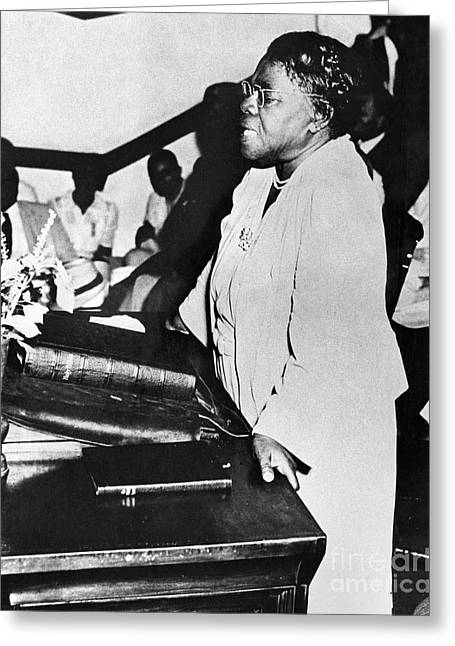 Educators Greeting Cards - Mary Mcleod Bethune Greeting Card by Granger