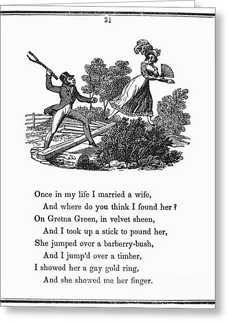 Mother Goose, 1833 Greeting Card by Granger