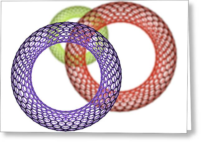 Macromolecule Greeting Cards - Nanotube Technology Greeting Card by Victor Habbick Visions