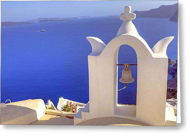 Cyclades Greeting Cards - Oia - Santorini Greeting Card by Joana Kruse