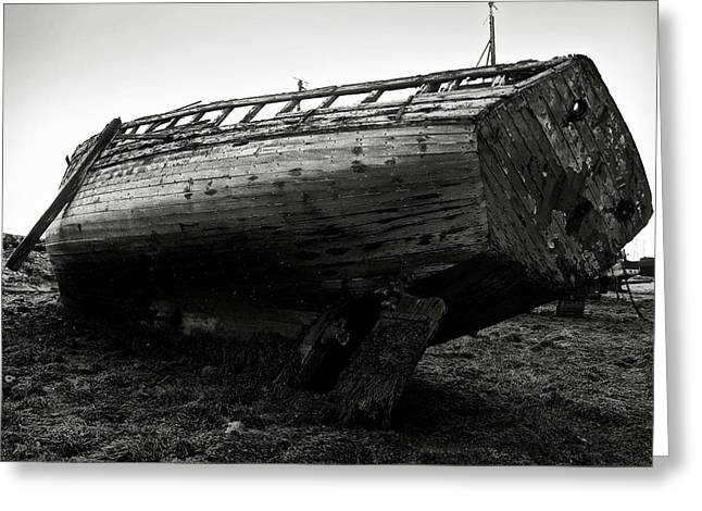 Alga Greeting Cards - Old abandoned ship Greeting Card by RicardMN Photography