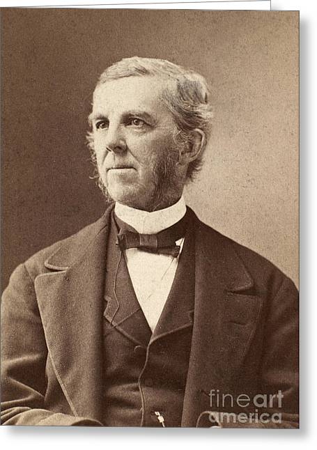 Wendell Greeting Cards - Oliver Wendell Holmes (1809-1894) Greeting Card by Granger