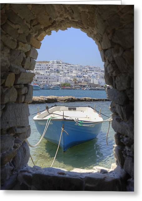 Opening Greeting Cards - Paros - Cyclades - Greece Greeting Card by Joana Kruse