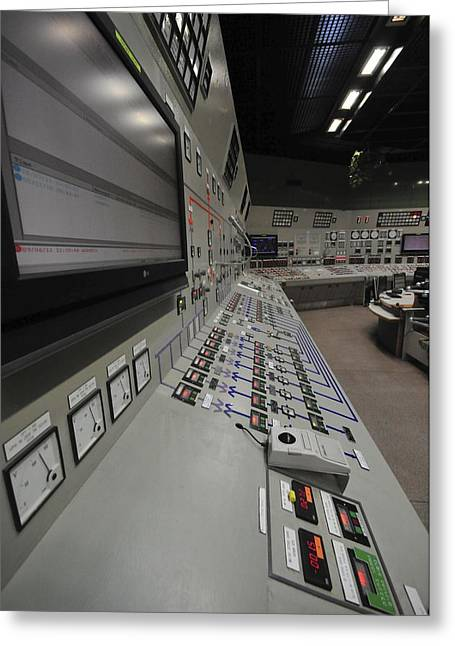 Control Room Greeting Cards - Power Station Control Room Greeting Card by Photostock-israel