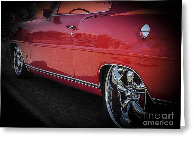 Tricked-out Cars Greeting Cards - Real Red Nova SS Greeting Card by Chuck Re
