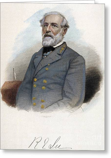 19th Century America Greeting Cards - Robert E. Lee (1807-1870) Greeting Card by Granger