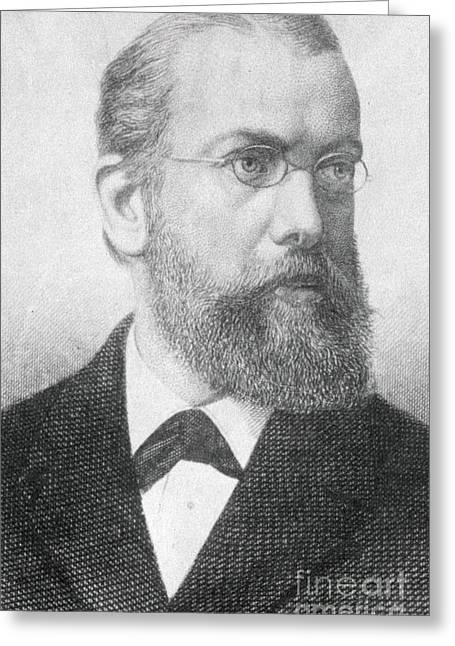Microbiologist Greeting Cards - Robert Koch, German Microbiologist Greeting Card by Science Source