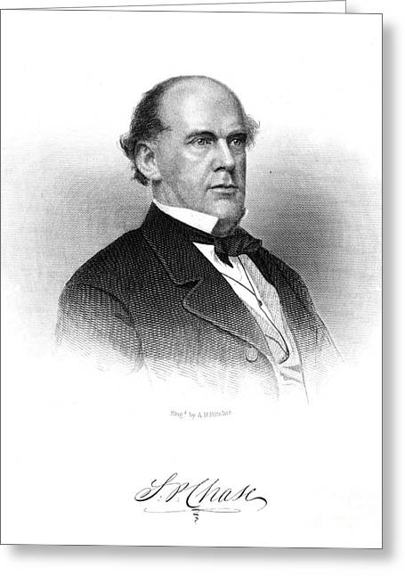 Chief Justice Greeting Cards - Salmon Portland Chase Greeting Card by Granger