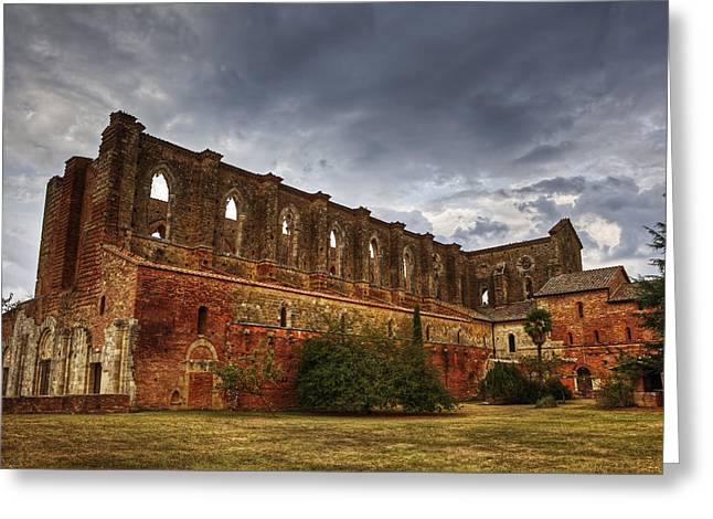 Gothic Greeting Cards - San Galgano Greeting Card by Joana Kruse
