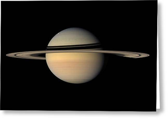 Ring Systems Greeting Cards - Saturn Greeting Card by Stocktrek Images
