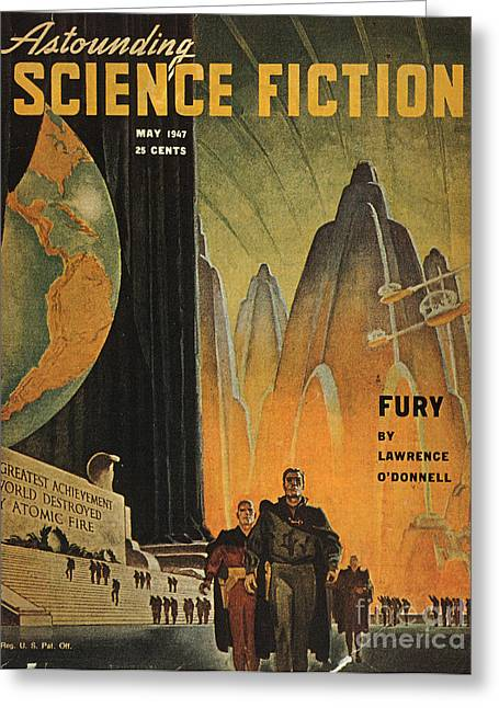 Rogers Greeting Cards - Science Fiction Magazine Greeting Card by Granger