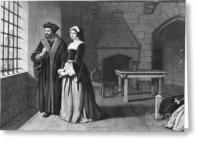 Mezzotint Greeting Cards - Sir Thomas More (1478-1535) Greeting Card by Granger