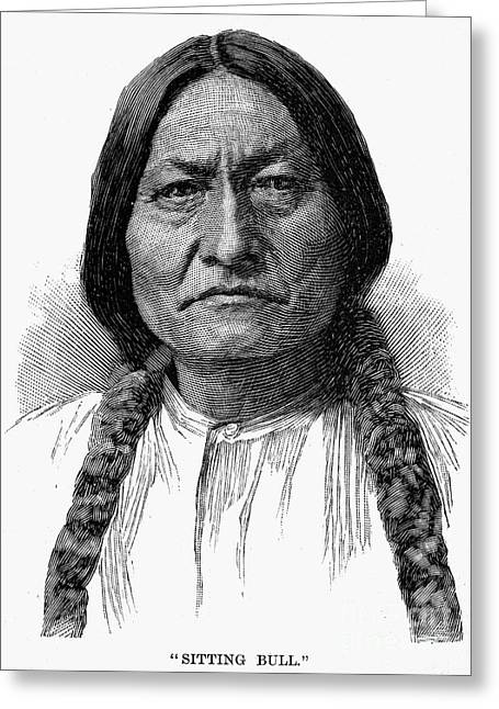 Chief Sitting Bull Greeting Cards - Sitting Bull (1834-1890) Greeting Card by Granger
