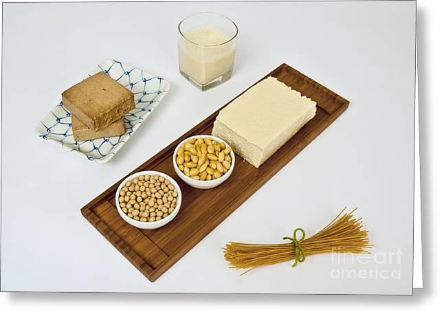 Spaghetti Greeting Cards - Soy Products Greeting Card by Photo Researchers