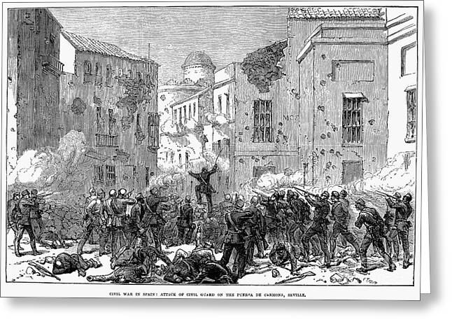 Carmona Greeting Cards - Spain: Second Carlist War Greeting Card by Granger