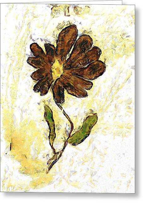 Girls Soccer Art Greeting Cards - The flower Greeting Card by Odon Czintos