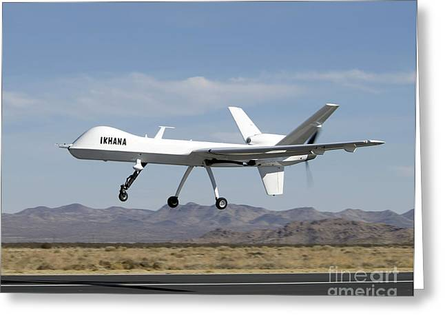 Aeronautics Greeting Cards - The Ikhana Unmanned Aircraft Greeting Card by Stocktrek Images