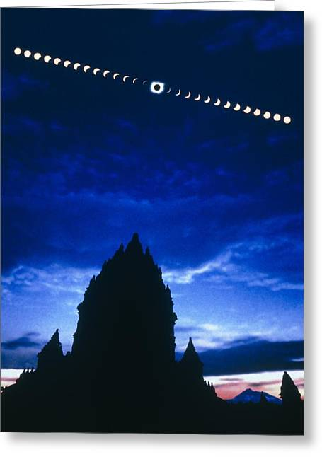 Solar Eclipse Greeting Cards - Timelapse Image Of A Total Solar Eclipse Greeting Card by Dr Fred Espenak